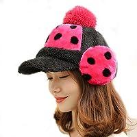 China Show Creativas de Invierno Sombrero con Tapas de oído de cálidos emporgeragten Cubierta de Modo punktiert de béisbol Sombrero Rojo
