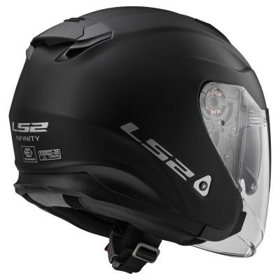 LS2 305211011XXS OF521 Casco Infinity Solid, Color Negro Mate, Tamaño XXS