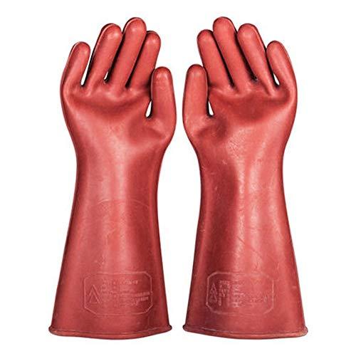 LONGLONGJINGXIAO Isolierhandschuhe 12KV Hochspannungselektriker Anti-Elektrik Gummihandschuhe Sicherheit Elektriker Spezialdünnschnitt (Farbe : Braun)