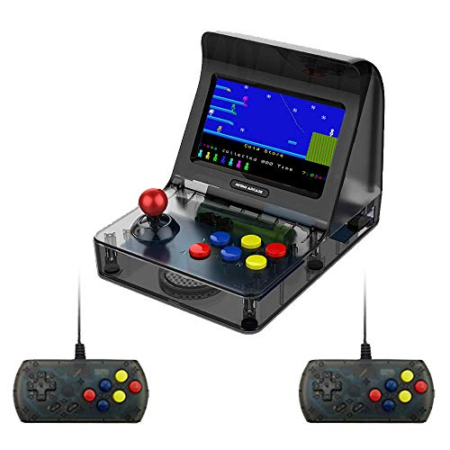 "DroiX RetroGame RS-07 Arcade mit Controllern Portable Mini Arcade Retro-Spielkonsole Klassische Arcade-Spiele Retro-Emulator - 16GB Speicher, 4,3 \""Farbdisplay, Auflösung 480x272, MicroSD Card Slot"