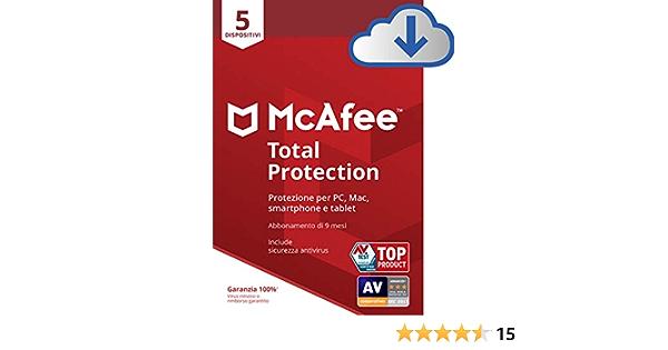 McAfee 2019 protezione totale1dispositivo PC//MAC//ANDROID//SMARTPHONECodice di Attivazione