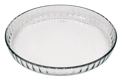 Marinex Glass Fluted Flan or Quiche Dish, 10-1/2-Inch by Marinex -