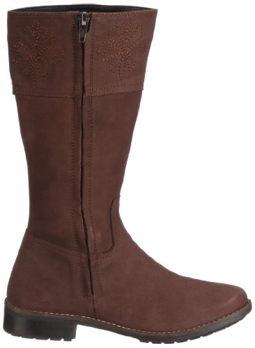 Geox Jr Flake, Bottes fille Marron - Brown - Braun/Dk Brown