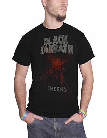 black Sabbath T Shirt The End World Tour Mushroom Cloud nouveau officiel Homme
