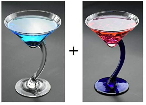 GHGYUF Champagne Cocktail Flutes Serial Lead-Free Margarita Martini Glasses Goblet Lover Cocktail Glasses,2 Pieces,200ML Margarita-goblet