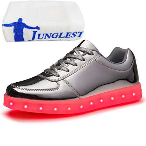 (present: Pequena Toalha) Junglest® Meninos Meninas Sapatos De Couro Da Sapatilha C42 Brilhante Cor Mudança De Fluorescência Sneakers Schu