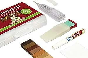 Kit di riparazione graffi pozzo trivellato laminato for Kit riparazione parquet