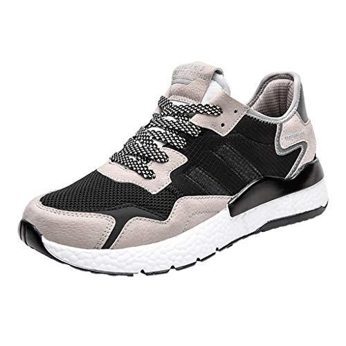 REALIKE Herren Arbeitsschuhe Sneaker Sportschuhe Lace Up Ultraleichte Laufschuhe Freizeitschuhe Atmungsaktiv Leicht Sportlich Geeignet für drinnen und draußen Bergsteigen Lauftraining (Ab Green Strass)