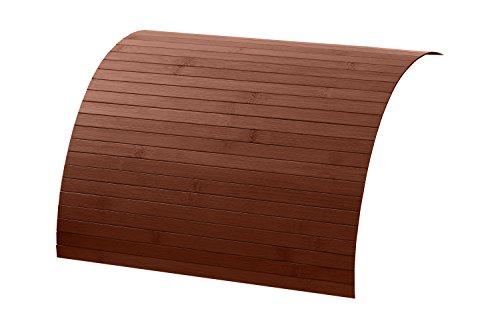 Holz Couch (Couch Holz Ablage aus Bambus von DE-COmmerce, Sofatablett auf rutschfestem Latex, flexible Tablett Ablage Sofa für mehr Ordnung und Sauberkeit I Couch Tablett für Armlehne mocha 20 x 120 cm)