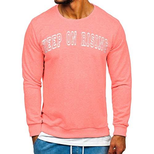 serliyHerren Sweatshirt Pullover Print Rundhals Streetwear Pulli Mit Rundhalsausschnitt Trendy Schriftzug Slim Sweatshirt