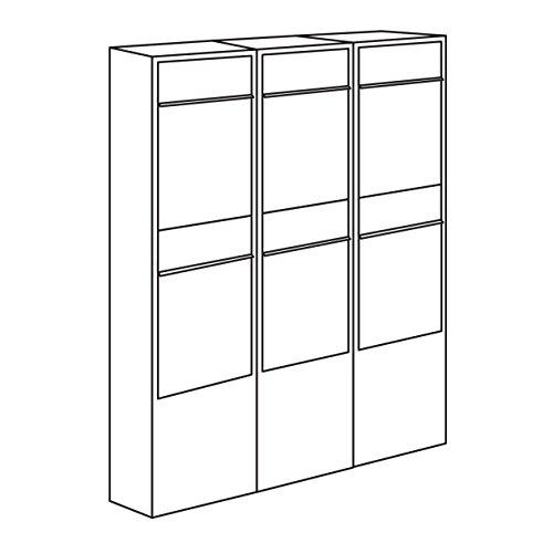 Briefkastenanlage, Design Briefkasten Big Box for Two Schwarz/Edelstahl – Bravios - 6