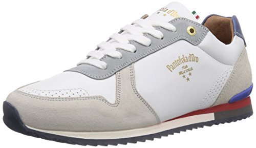 Pantofola d'Oro TERAMO LEATHER LOW Herren Sneakers Weiß (BRIGHT WHITE NEW)