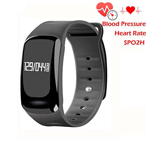Bracciale fitness Smart Watch Homestec S4 con rilevatore pressione sanguigna, cardiofrequenzimetro SPO2H, monitor per la (Mantenere Pressione Sanguigna)