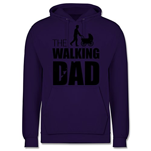 Vatertag - The Walking Dad - Männer Premium Kapuzenpullover / Hoodie Lila