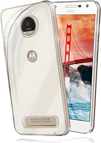 moex® Ultra-Clear Case [Vollständig Transparent] passend für Moto Z Play | rutschfest und extrem dünn - Fast unsichtbar, Klar (Phone Case Motorola Ultra)
