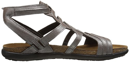 Naot Womens Sara Leather Sandals Silver Threads