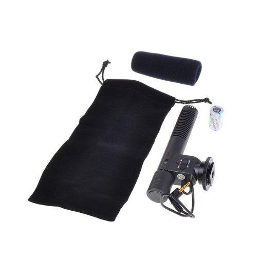 SODIAL (R) SG-108 DV Stereo-Video-Shotgun-Mikrofon Mikrofon fuer Nikon Canon DV-Camcorder