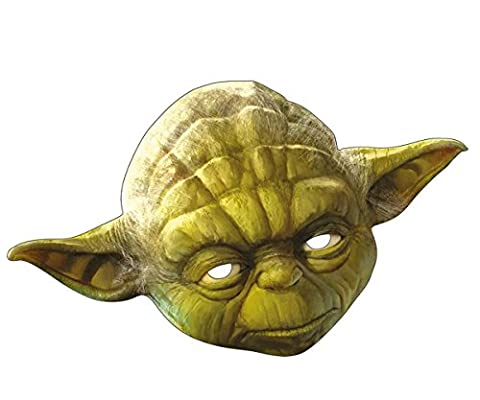 Intergalaktische Star Wars Yoda Maske aus Pappe | Für die gute Seite der Macht kämpfen du sollst (Padawan Star Wars Kostüm)