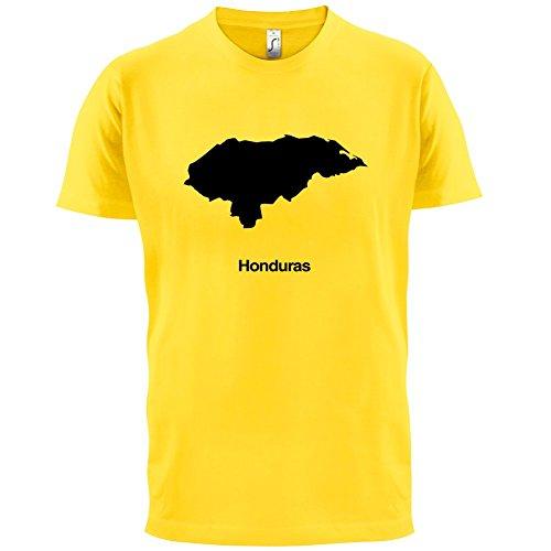 Honduras / Republik Honduras Silhouette - Herren T-Shirt - 13 Farben Gelb