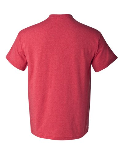 Delifhted Men's Heavy Cotton T-Shirt Heather Red