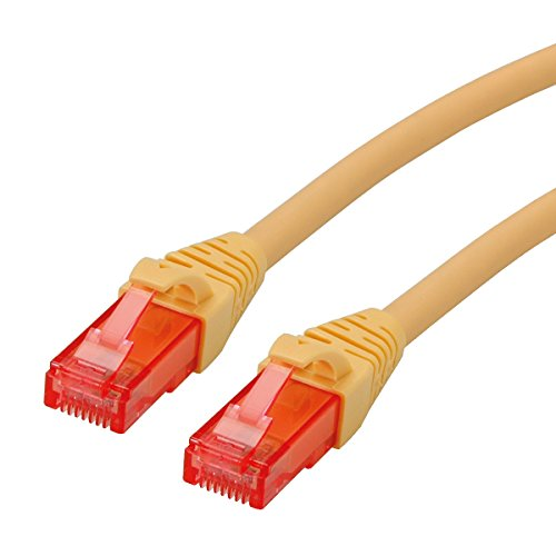ROLINE UTP LAN Kabel Cat 6 Component Level LSOH| Ethernet Netzwerkkabel mit RJ45 Stecker | gelb 0,3 m - 6 Geformt Ethernet-patch-kabel