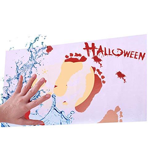 Bodenmatte Halloween Farbwechsel Teppich Badezimmer Fußabdrücke Anti-Rutsch-Matten