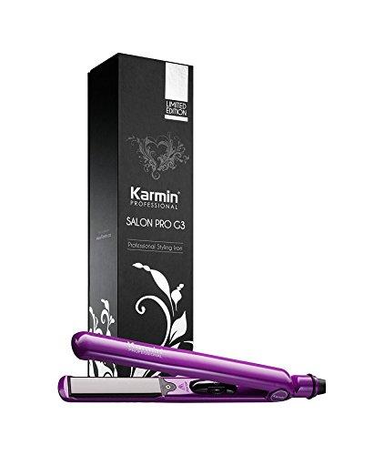 Karmin G3 Salon Pro - Plancha de pelo profesional, de cerámica y turmalina, color morado