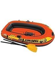 Intex Explorer Pro 200 Bateau gonflable 2 personnes avec pompe et rames Canot pour plage piscine