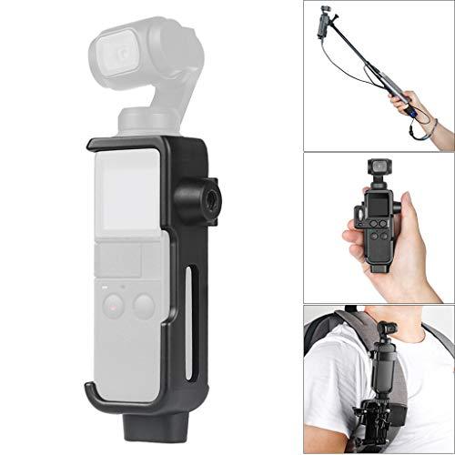 Upxiang Schutz Rahmen für DJI Osmo Pocket Gimbal Kamera Schraubadapter Schutzrahmen Adapter Zubehör Set Actionkameras Erweiterungs Zubehör (A) Pole Mount Adapter Kit