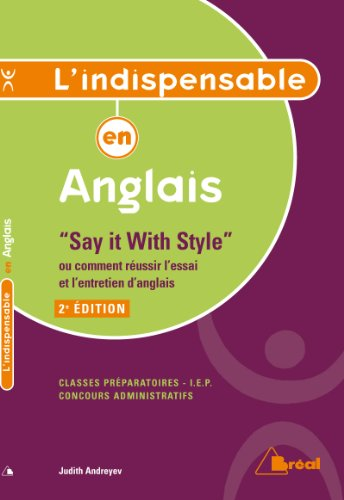 L'indispensable en Anglais Say it with style - 2e édition