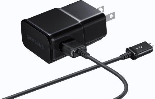 OEM Karbonn K 455 Smartphone 2A Reise-Ladegerät mit abnehmbarem Micro-USB-Kabel von Samsung, schwarz