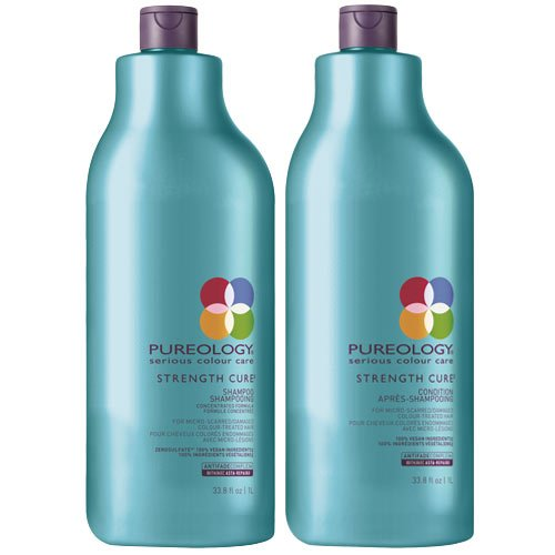 Pureology Hydrate Conditioner (Pureology Strength Cure Shampoo 1000ml und Conditioner 1000ml - Duo)