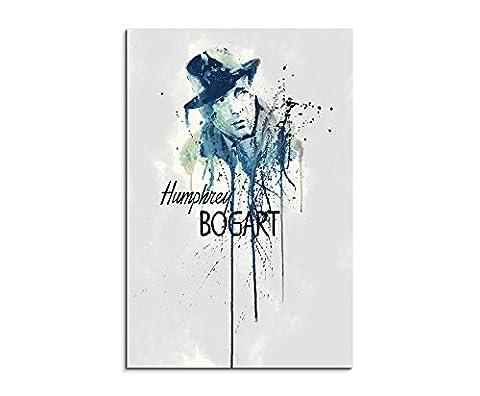 Humphrey Bogart 90x 60cm Keilrahmenbild Kunstbild Aquarell Art Wandbild auf Leinwand fertig gerahmt Original Paul Sinus Art Unikat