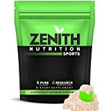 Zenith Nutrition Raw Whey Protein 80% | USA Made | with Digestive Enzymes (Unflavoured) - 1kg