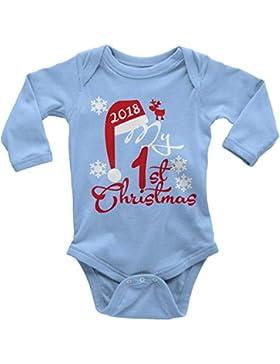 Mikalino Langarm Babybody My First Christmas 2018