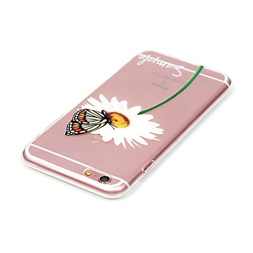 iPhone 6 Plus / 6S Plus (5,5 Pouces) Coque, Cozy Hut ® [Liquid Crystal] Case Coque Housse Etui Cover Ultra Hybrid TPU Silicone,[Extrêmement Mince Souple et Flexible] [Peau Transparente] [Shock-Absorpt papillon Shiragiku