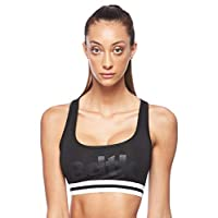 BodyTalk Women's Sports Bra With Athletic Back, Black, Large