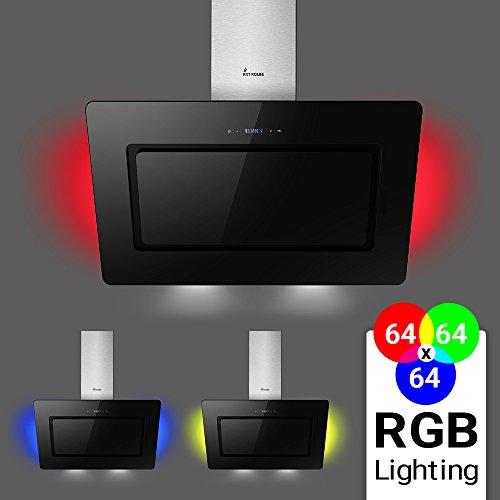 KKT KOLBE LIBERA90SM Wand-Dunstabzugshaube / 90 cm, kopffrei / schwarz / schräg / SensorTouch / Nachlauf / LED-Beleuchtung / leichte Montage