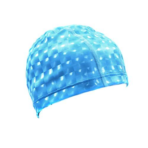 DaySing Bonnet de Bain, Original à Jour Bonnet de Natation 3D Ergonomique Confortable Durable pour Enfants Adultes Femme Hommes pour Cheveux Longs ou Courts avec Clip de Nez et Bouchons d'oreille
