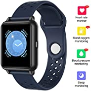 Honorall Smart Watch Fitness Tracker Heart Rate Monitor Body Temperature Sleep Monitor Blood Pressure Water Re
