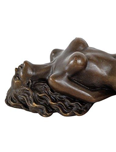aubaho Bronzeskulptur Erotik erotische Kunst Akt Bronze Figur Statue Antik-Stil 22cm
