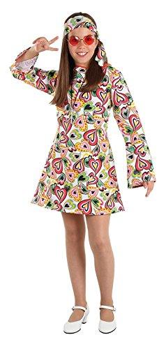 Imagen de disfraz hippie años 70 niña  único, 7 a 9 años