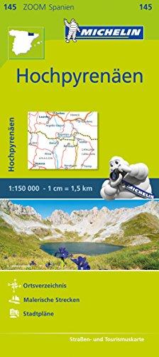 Michelin Hochpyrenäen: Straßen- und Tourismuskarte 1:150.000 (MICHELIN Zoomkarten, Band 145)