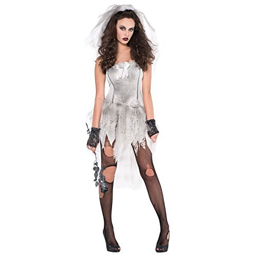 c6e7e8826 UK 14-16 Large - Adults Ghost Bride Zombie Drop Dead Gorgeous White Ghostly  Dress