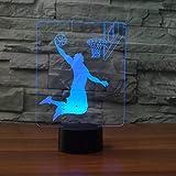 3D Basketball Rebound Dunk Tischlampe 7 Farben Led Schlaf Nachtlicht Kinder Touch Button USB Lampara Leuchte Wohnkultur Geschenke