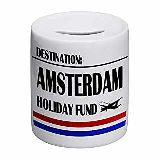 Destination Amsterdam Holiday Fund Novelty Ceramic Money Box