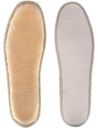 La'prado Plantillas de piel de oveja, transpirable, suave y acogedor cálido Extra mullido Plantilla de lana genuina 100% adecuada para botas, todos los tamaños