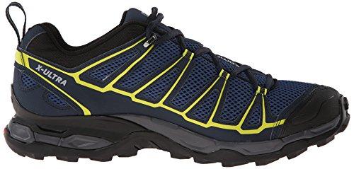 Salomon X Ultra Prime, Chaussures de trekking et randonnée homme Blau (Fjord/Deep Blue/Gecko Green)