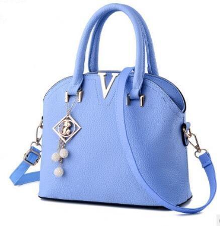 HQYSS Damen-handtaschen Koreanische Stereotypen OL Commuter Frauen Cross Body Schulter Messenger Tasche days blue