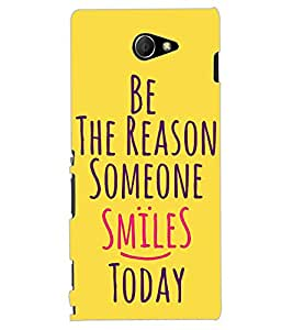 ColourCraft Quote Design Back Case Cover for SONY XPERIA M2 DUAL D2302